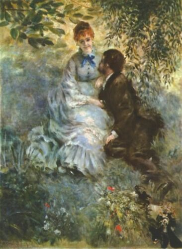 Pair of Lovers by Pierre-Auguste Renoir Giclee Fine ArtPrint Repro on Canvas