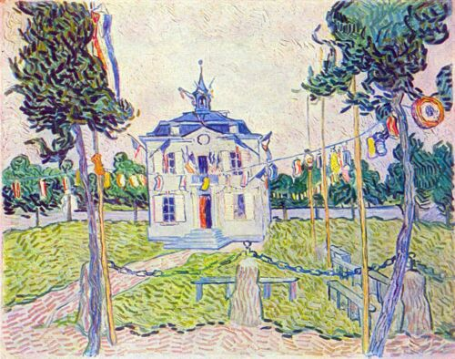 The community house in Auvers by Vincent Van Gogh Giclee Repro on Canvas
