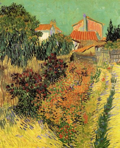 Garden Behind a House by Vincent Van Gogh Giclee Fine Art Print Repro on Canvas