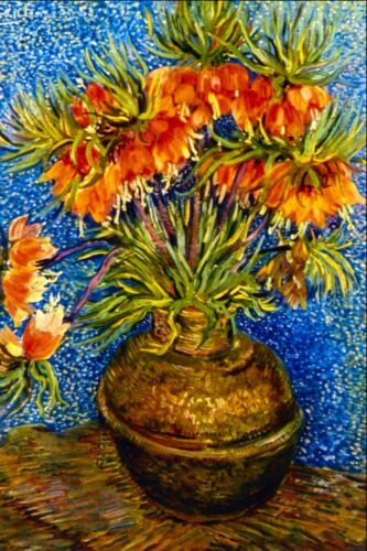 Fritillaries by Vincent Van Gogh Giclee Fine Art Print Reproduction on Canvas