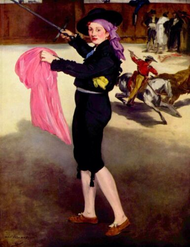 Mlle. Victorine in the Costume of a Matador by Manet Giclee Repro on Canvas
