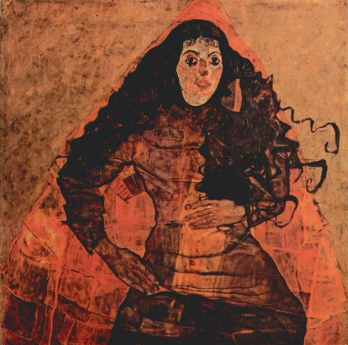 Portrait of Trude Engel by Egon Schiele Giclee Fine Art Print Repro on Canvas