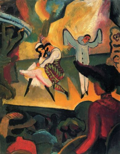 Russian ballet by August Macke Giclee Fine ArtPrint Reproduction on Canvas
