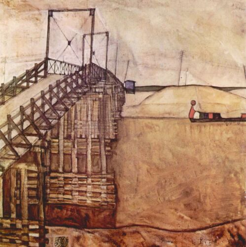 The Bridge by Egon Schiele Giclee Fine Art Print Reproduction on Canvas