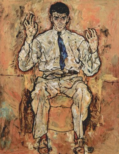 Portrait of Albert Paris von Gütersloh by Egon Schiele Giclee  Repro on Canvas