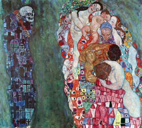 Death and Life by Gustav Klimt Giclee Fine ArtPrint Reproduction on Canvas