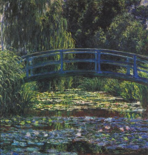 Water Lily Pond #6 by Claude Monet Giclee Fine ArtPrint Reproduction on Canvas