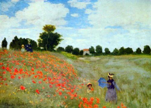 Poppies by Claude Monet Giclee Fine ArtPrint Reproduction on Canvas