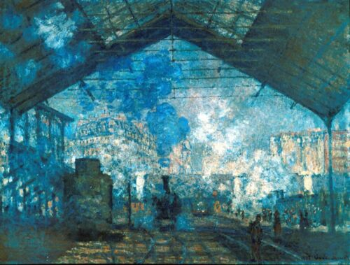 The station Saint-Lazare by Claude Monet Giclee Fine ArtPrint Repro on Canvas