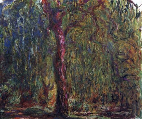 Weeping willow by Claude Monet Giclee Fine ArtPrint Reproduction on Canvas