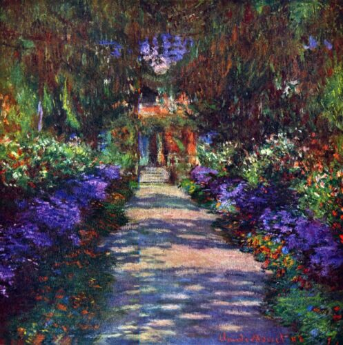 Garden at Giverny by Claude Monet Giclee Fine ArtPrint Reproduction on Canvas