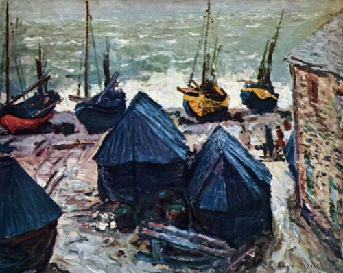 The Boats by Claude Monet Giclee Fine ArtPrint Reproduction on Canvas