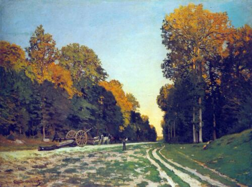 The road from Chailly to Fontainebleau by Claude Monet Giclee Repro on Canvas
