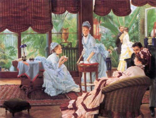 Unrivaled by James Tissot Giclee Fine ArtPrint Reproduction on Canvas