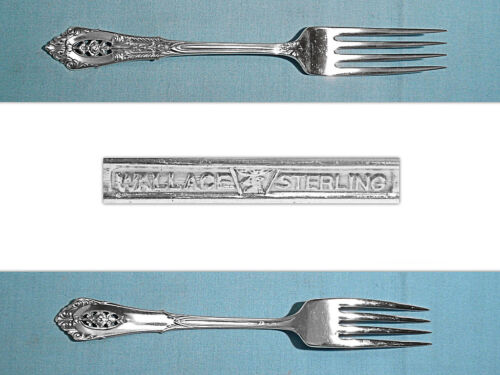"""WALLACE STERLING 7 5/8"""" FORK(S) ~ ROSE POINT ~ NO MONO"""