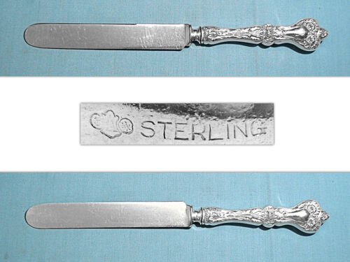 "ALVIN STERLING 9 3/4"" OLD FRENCH HOLLOW KNIFE(S) ~ MAJESTIC ~ MONO B"