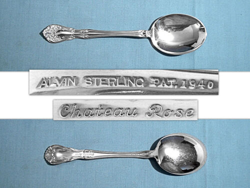 ALVIN STERLING GUMBO SOUP SPOON(S) ~ CHATEAU ROSE ~ NO MONO