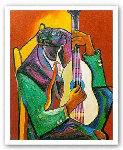 Them Weary Blues by George Hunt African-American Art Print 19x25