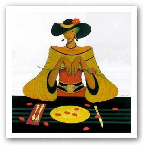 Dining With Diva by Albert Fennell African-American Signed Art Print 24x24