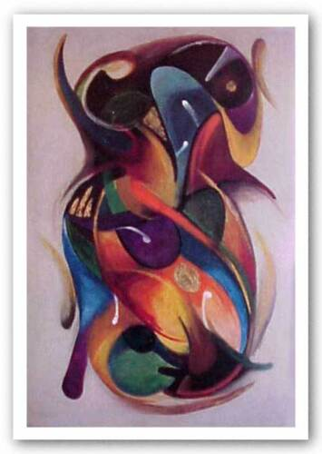 AFRICAN AMERICAN ART PRINT Expressions I Fred Mathews