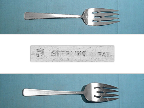 """TOWLE STERLING 8"""" SERVING FORK ~ OLD LACE ~ MONO B"""