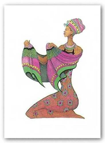 Shanna's Shawl by Albert Fennell African-American Signed Art Print 21x31