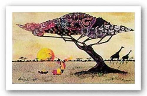 Serenade to the Rising Alonzo Saunders African-American Signed Art Print 24x18