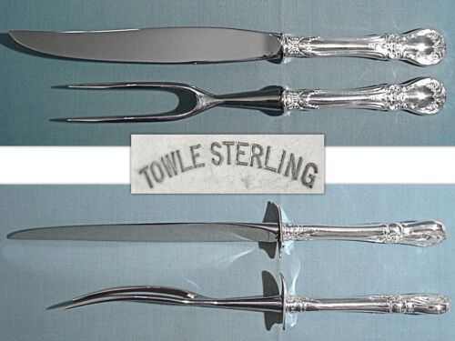 TOWLE STERLING 2-PIECE ROAST CARVING SET ~ OLD MASTER ~ NO MONO