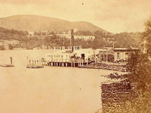 STEAMBOAT WEST POINT On The Hudson River - Circa 1870's