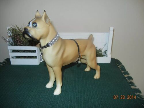 FOR A TOY PLASTIC Boxer  Fancy Collar and lead