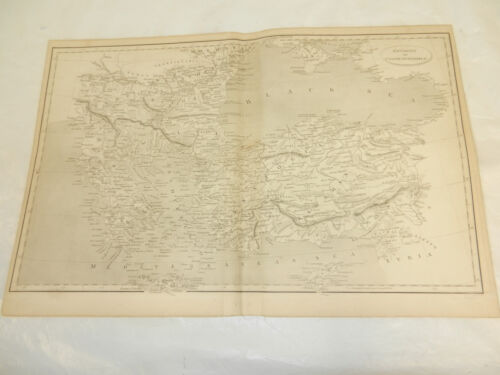 1819 Antique Map//ENVIRONS OF CONSTANTINOPLE, TURKEY