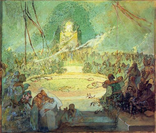 Age of Love 1936 1938 by Alphonse Mucha Giclee Fine Art Print Repro on Canvas