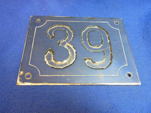 Mid Century Chrome with Black Numbers House Sign No. 39 #L