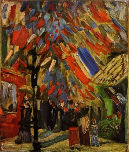14 July in Paris by Vincent Van Gogh Giclee Fine Art Print Huge Repro on Canvas