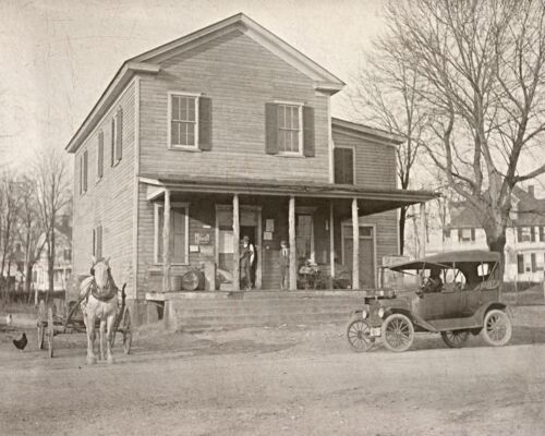 """1914 Country Store, vintage Photo, Dawsonville, Georgia, Old Ford, Horse, 14x11"""""""