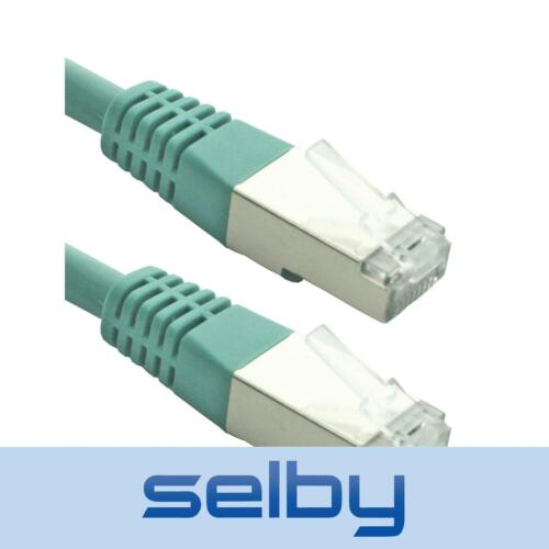 2 Pack 4m Green CAT6 Cable RCM Certified SFTP Network Data Ethernet Patch Lead