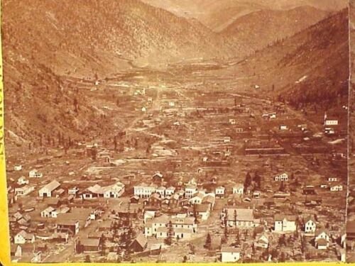Stereoview - Early View of GEORGETOWN, COLORADO - Photo By Chamberlain's