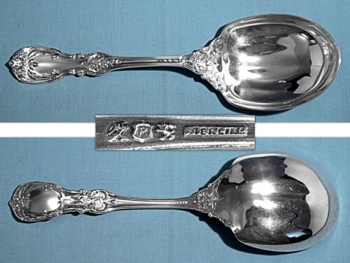 REED & BARTON STERLING SOLID SALAD SERVING SPOON ~ BURGUNDY ~ NO MONO