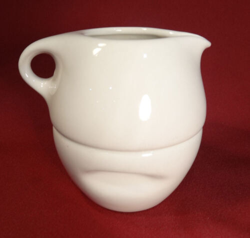 Russel Wright Iroqouis Off White Mid Century Modern Stacking Creamer & Sugar