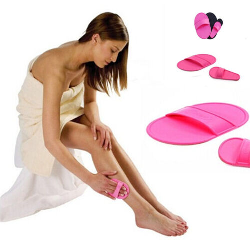 Arm Legs Skin Smooth Painless Hair Buffer Sheer Natural Removal Exfoliator Pads