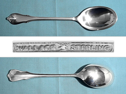 WALLACE STERLING SERVING SPOON ~ GRAND COLONIAL ~ NO MONO