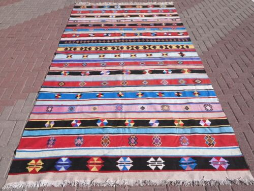 "Vintage Anatolia Turkish Antalya Nomads Kilim Rugs 78,7""x144,4"" Area Rug,Carpet"