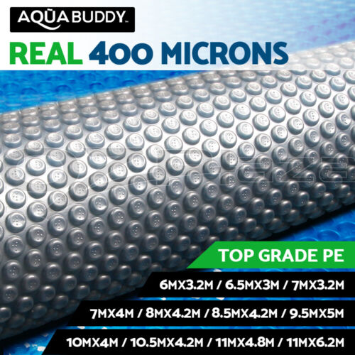 Aquabuddy Solar Swimming Pool Cover 400 Micron Outdoor Blanket Isothermal <br/> High quality LDPE✔ UV-resistant✔ Safety and durable✔