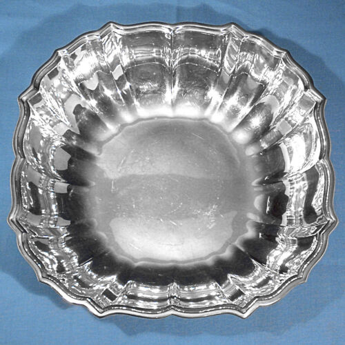 """FRANK SMITH STERLING 10 1/4"""" VEGETABLE BOWL #435 ~ CHIPPENDALE ~ NO MONO"""