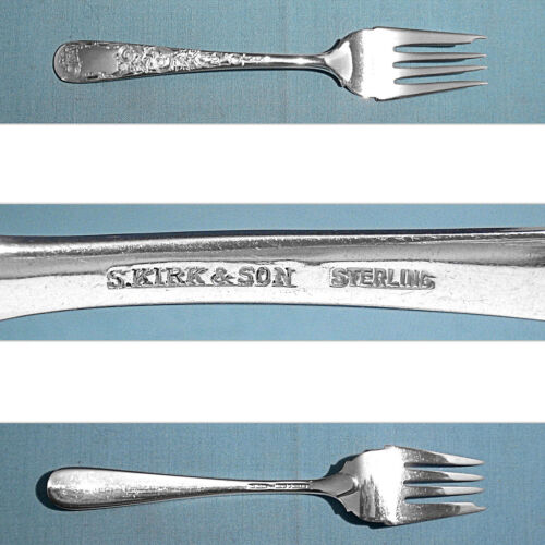 S KIRK & SON STERLING SALAD FORK(S) ~ OLD MARYLAND ENGRAVED ~ NO MONO