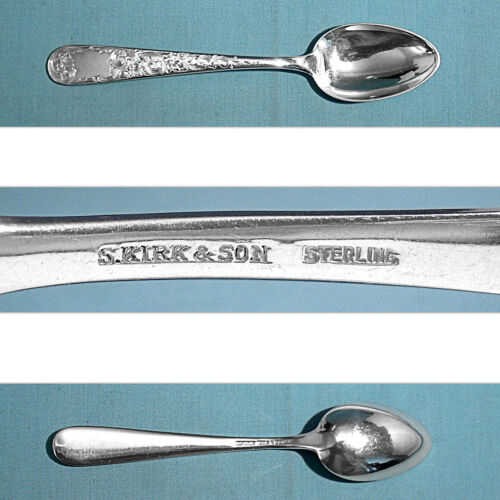 S KIRK & SON STERLING TEASPOON(S) ~ OLD MARYLAND ENGRAVED ~ NO MONO