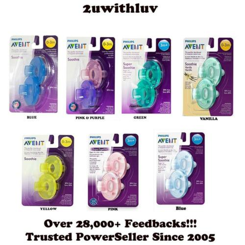 PHILIPS AVENT BABY SOOTHIE PACIFIER 0 - 3 MONTHS OR 3 MONTHS+ FREE EXPRESS POST