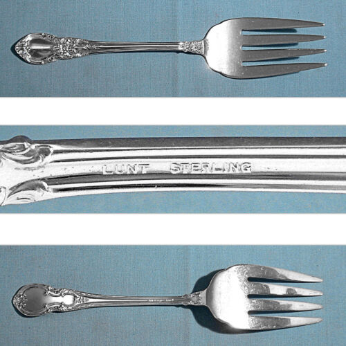 """LUNT STERLING 7 1/2"""" SERVING FORK ~ AMERICAN VICTORIAN ~ NO MONO"""
