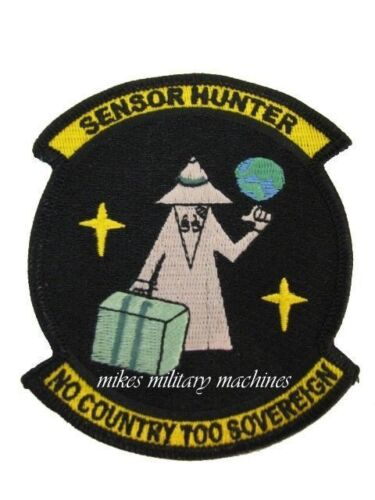 NRO Sensor Hunter Area 51 Military Intelligence Space Black Ops Covert Patch NewAir Force - 66528