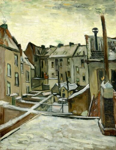 Houses seen from the back by Vincent Van Gogh Giclee Museum Size Repro on Canvas
